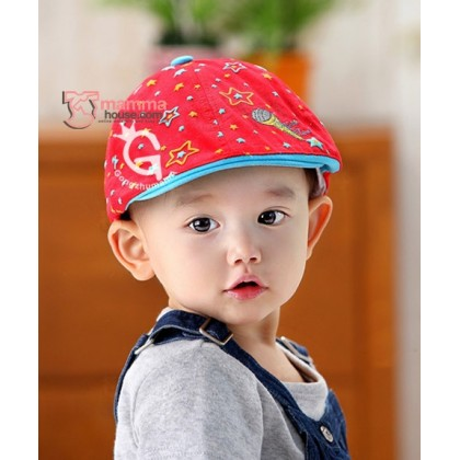 Baby Cap - Star Red